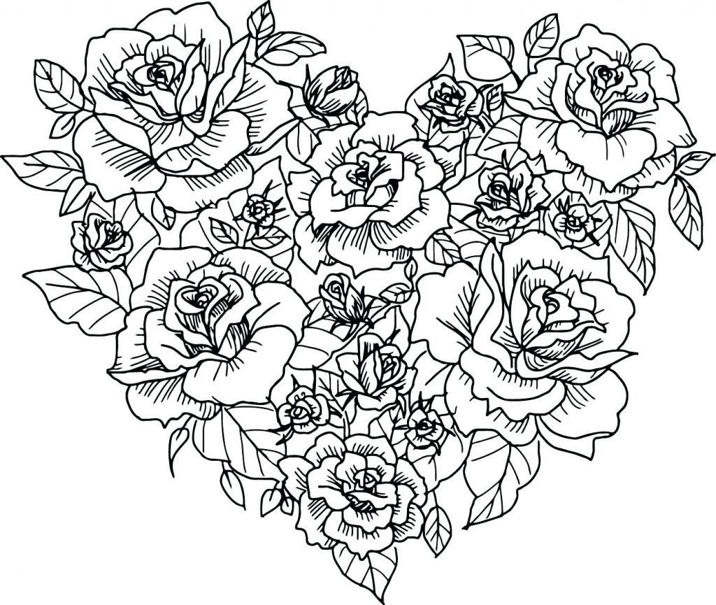 Hearts Coloring Pages For Adults Best Coloring Pages For Kids Heart Coloring Pages Rose Coloring Pages Flower Coloring Pages