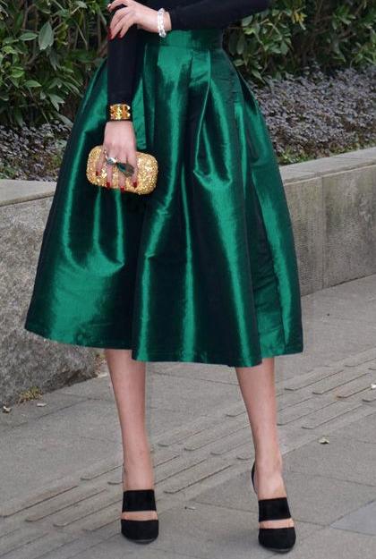 3b3c84a4eb Tea length Satin Ball skirt. | Black-Tie Wedding Attire | Skirts ...