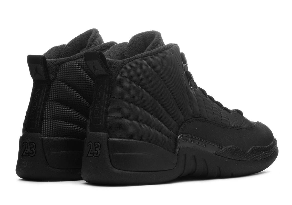 1aef84d3574 Where To Buy The Air Jordan 12 Winterized Triple Black | Air Jordan ...