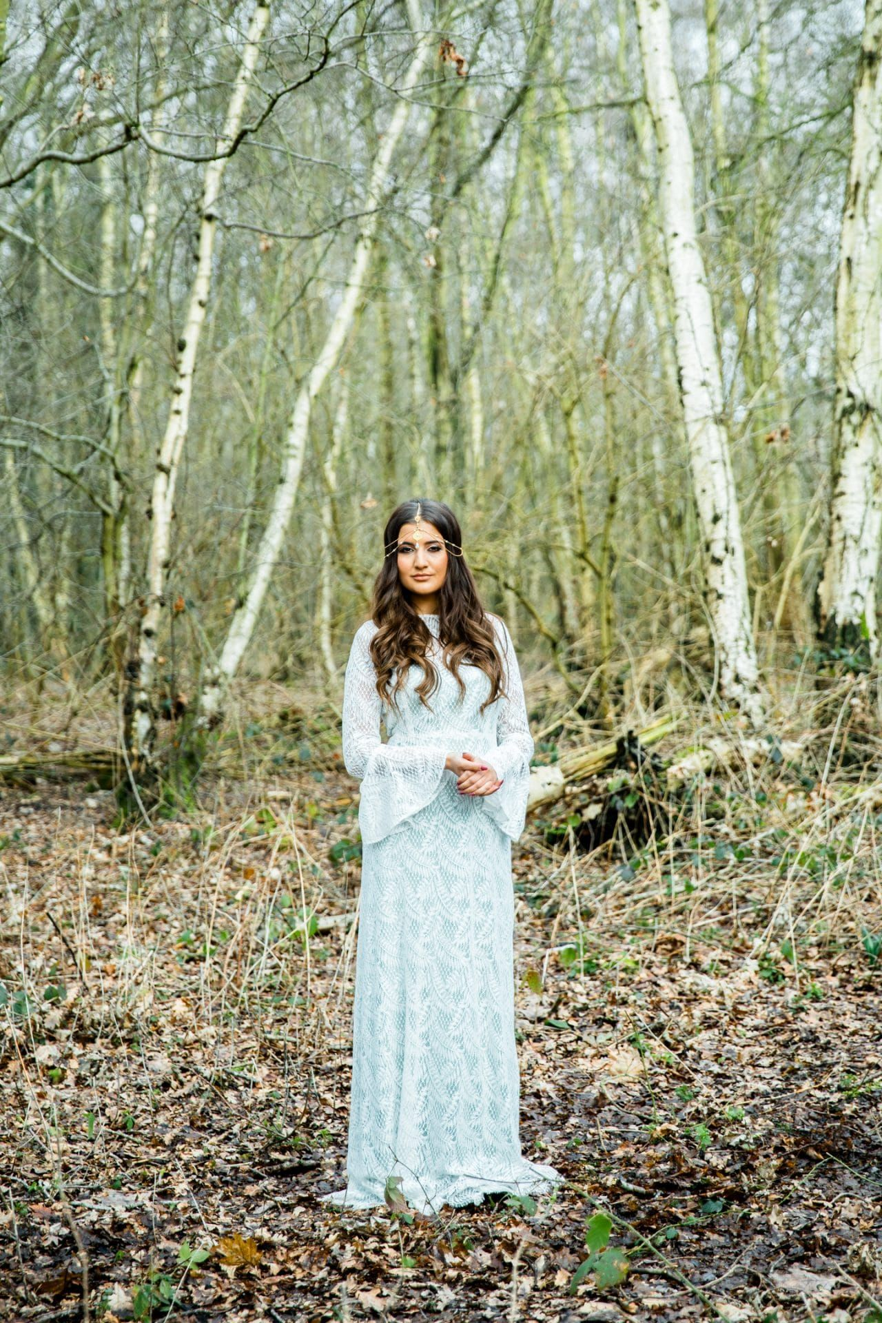 Outside wedding dresses  Lucy Cant Dance wedding dressWoodland luxe styled shoot Captured