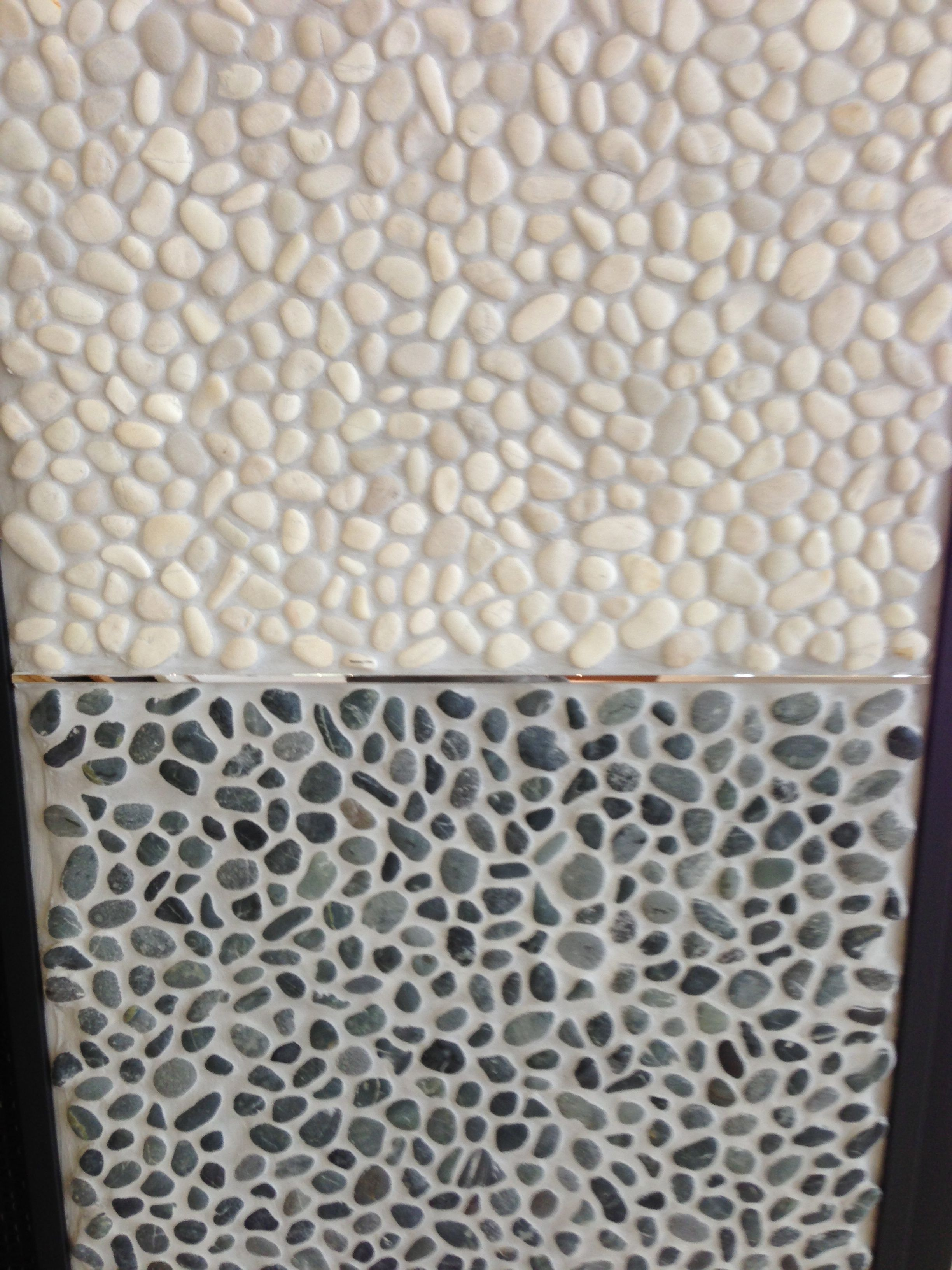 White pebble with grey grout for oscars shower tray decorating white pebble with grey grout for oscars shower tray dailygadgetfo Images