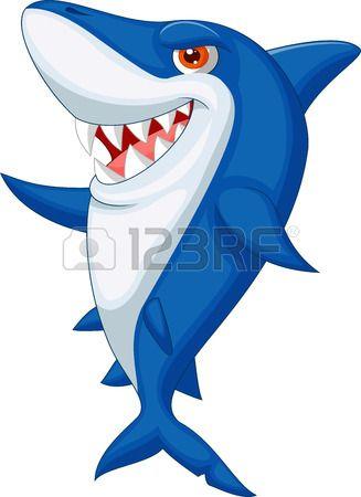 Nette Haifischkarikatur Sharks Cute Shark Shark Cartoon Images