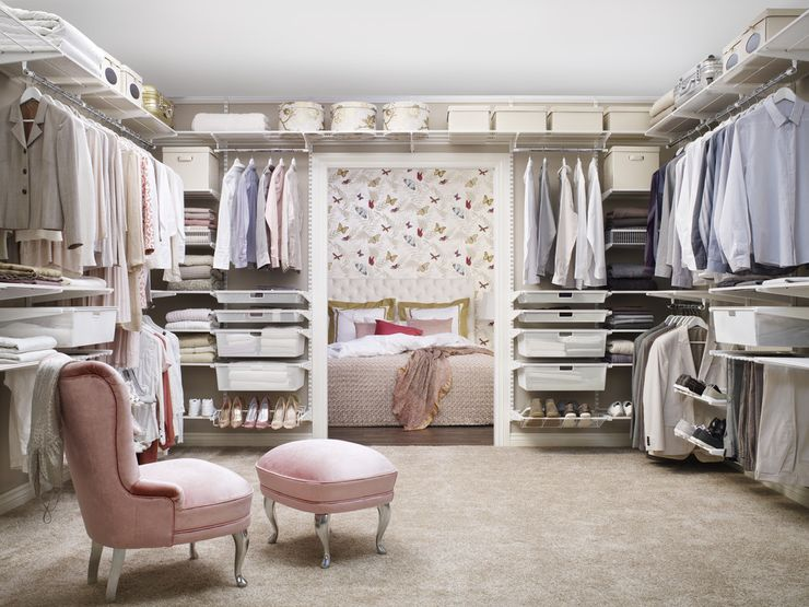walk in closet + tidy