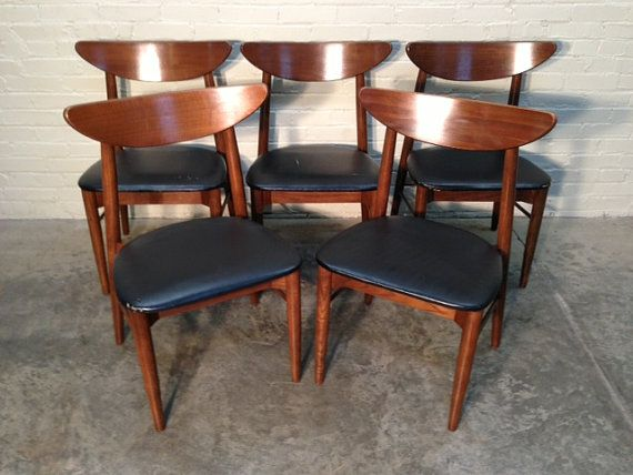 Mid Century Danish Modern Dining Chairs Set Of 5 Wonderful Etsy Danish Modern Dining Chair Modern Dining Chairs Dining Chairs