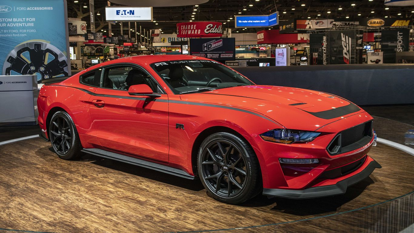 2018 Sema Show Mega Photo Gallery Customized To The Max Sports Cars Mustang Car Ford Ford Mustang