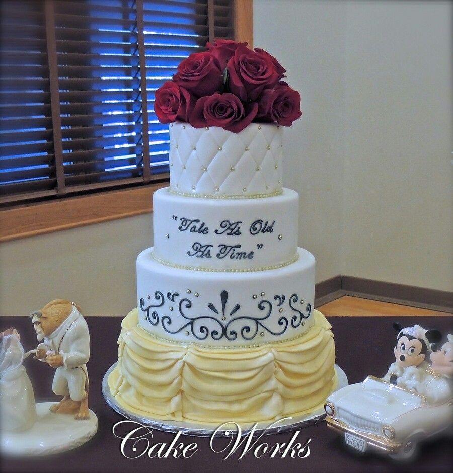 Tale as old as time cake #wedding #weddingcake #cake #disney