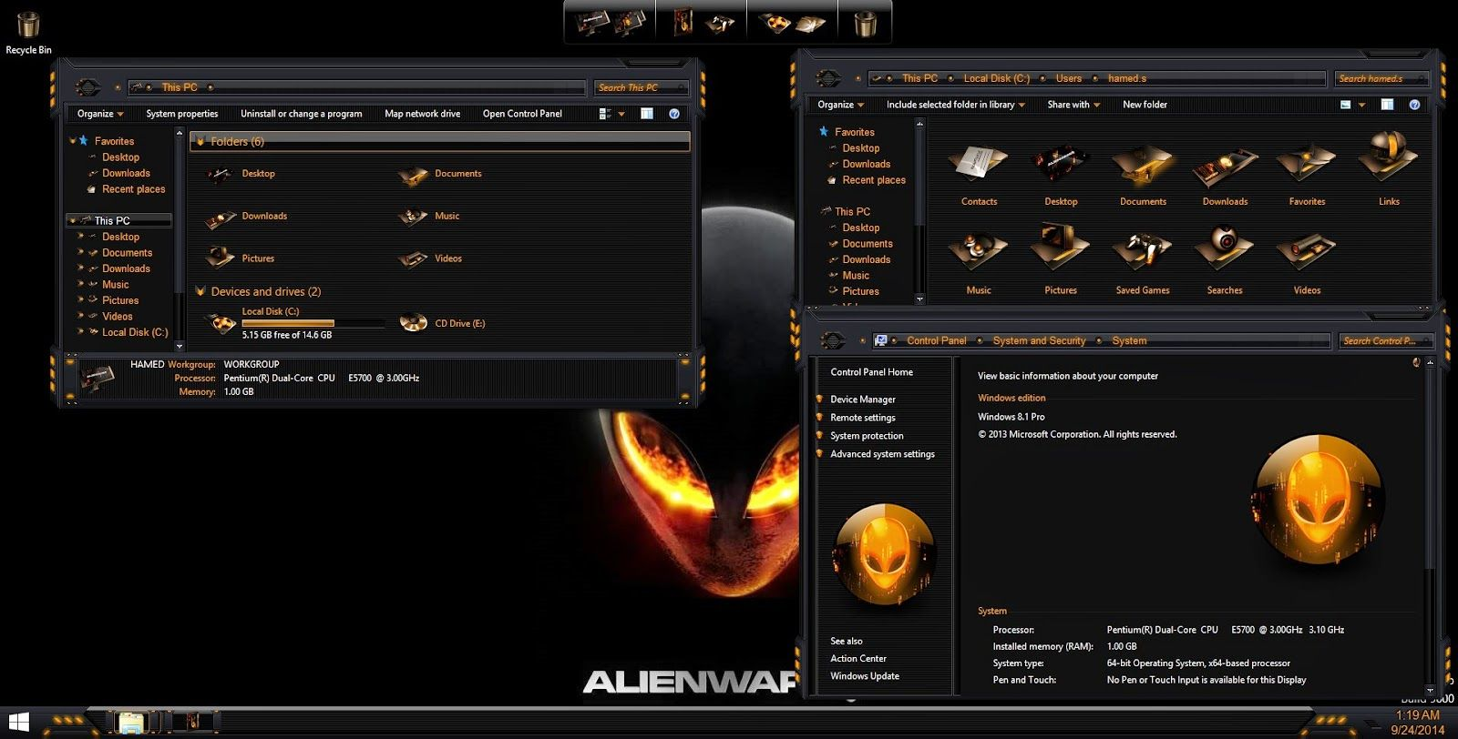 AlienBreed Orange SkinPack For Windows 7/ 8/8.1 (With
