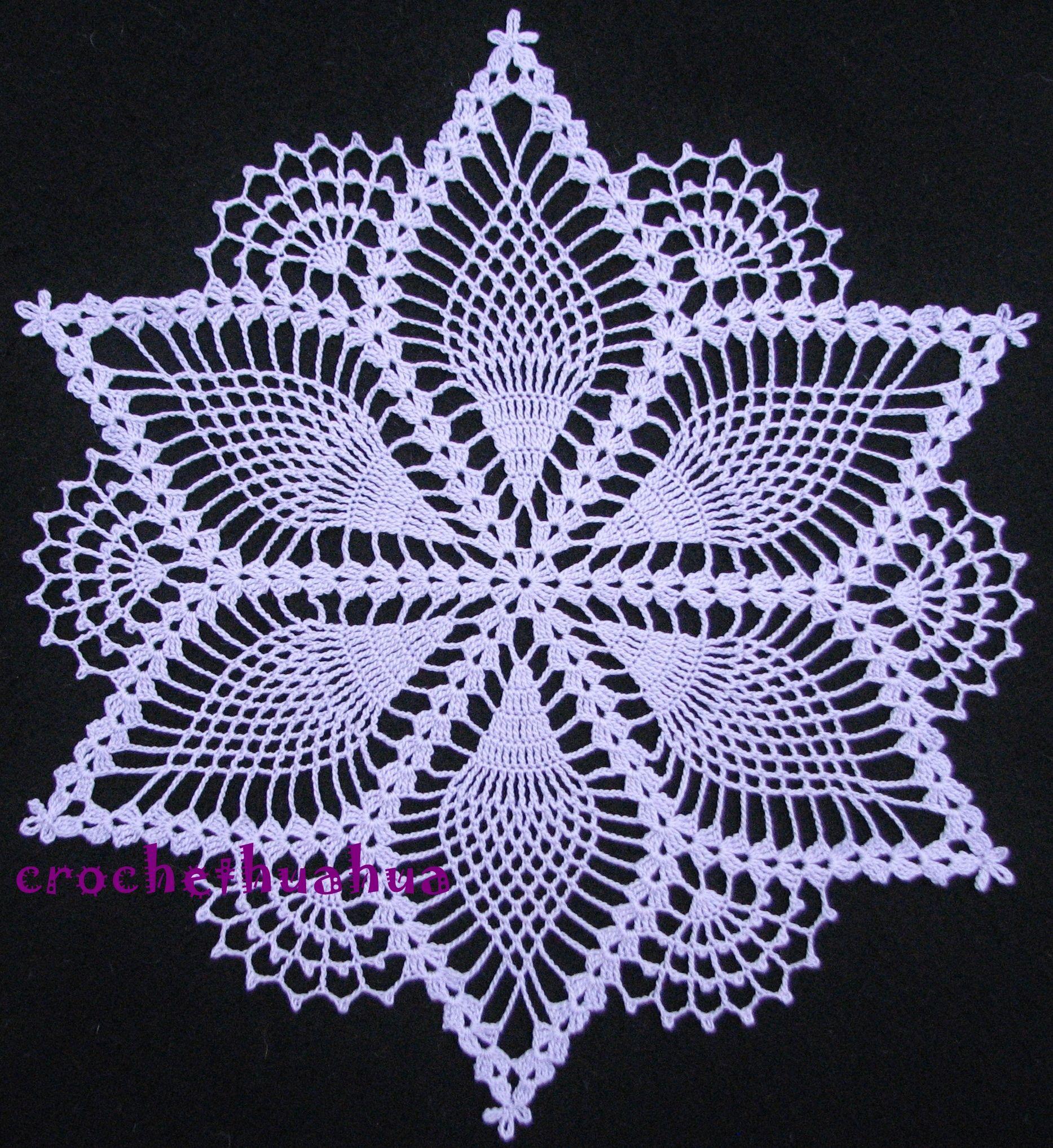 Pineapple Snowflake Doily My Crochet Projects Crochet Crochet