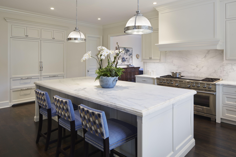 Like The Built In Fridge Millwork Wall Like The Range Wall Too Winnetka Custom Kitchen White Custom Cabinet Custom Kitchen Custom Cabinets Custom Kitchens