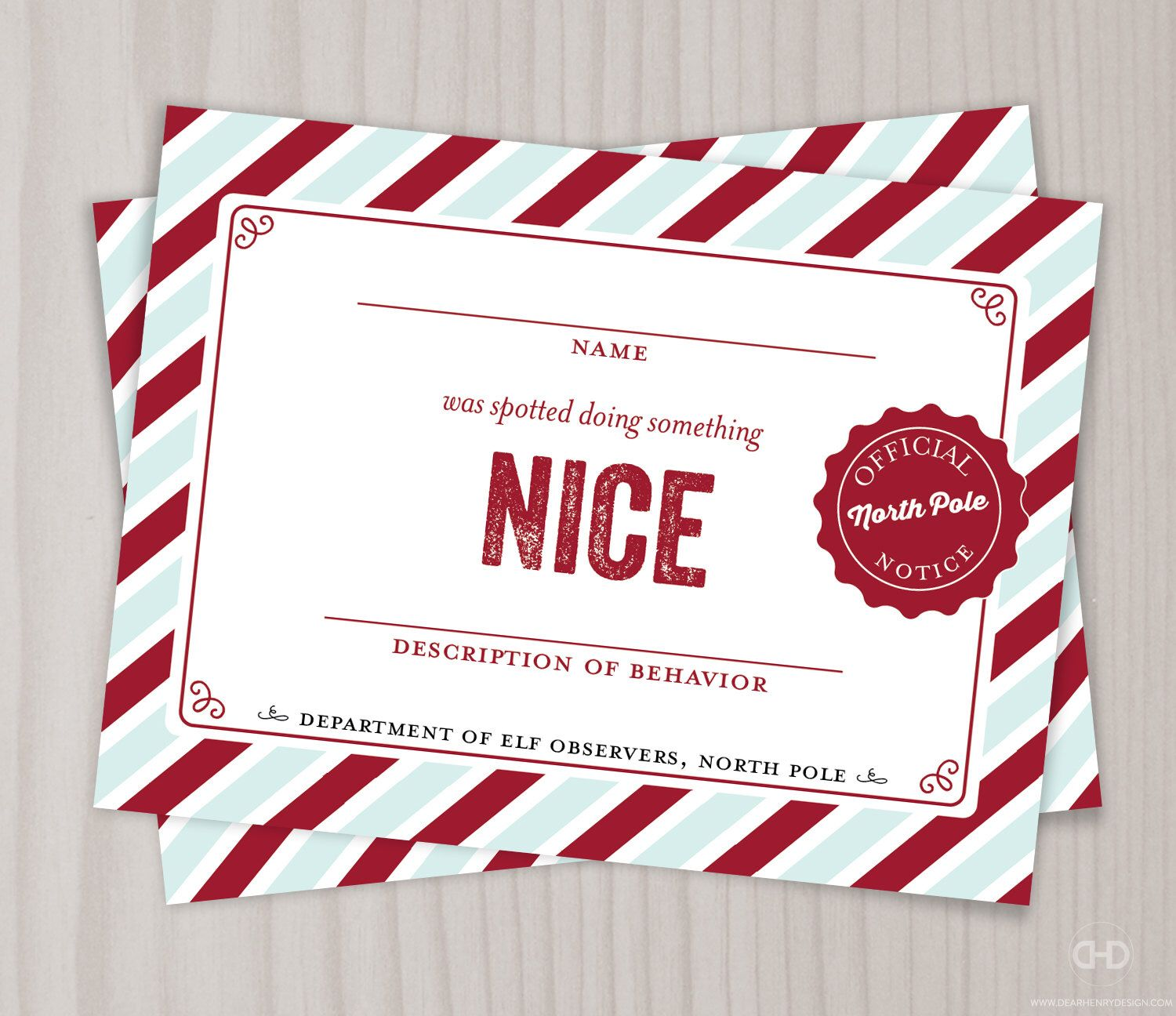Nice notice nice list note from the north pole elf observers nice notice nice list note from the north pole elf observers christmas shelf xflitez Gallery