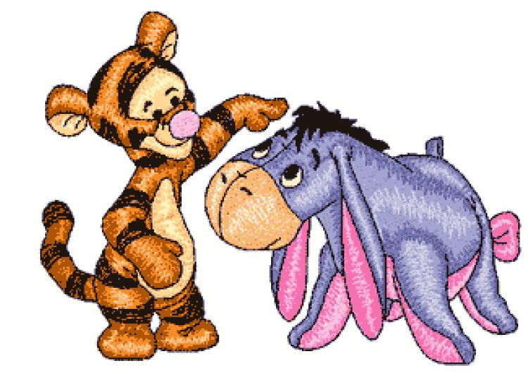 Shoply.com -Baby Tigger and Eeyore Machine Embroidery Designs in 4 Sizes. Only $3.99