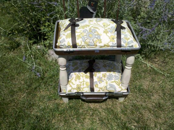 Upcycled vintage suitcase Pet Bed bunk beds by upcycledpetbeds, $42.00