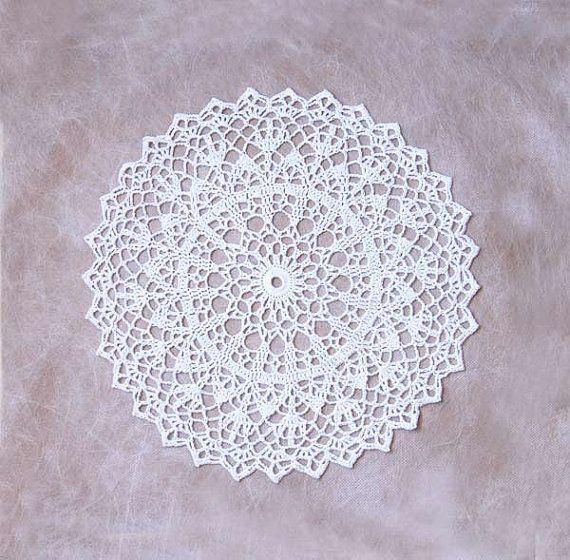Bridal White Crochet Lace Doily, Table Topper, Home Decor, Original ...