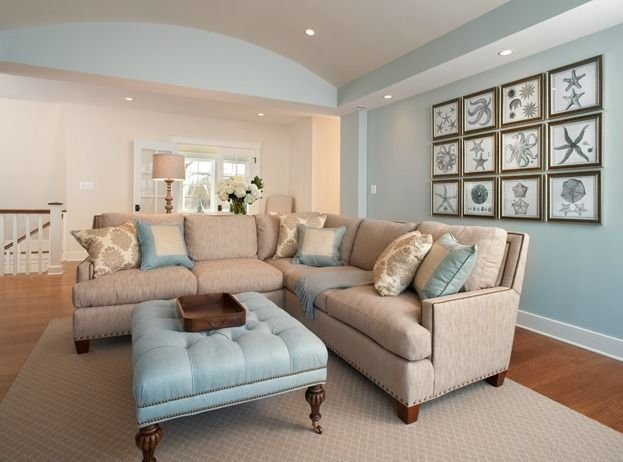 Blue walls  Family Room Designs, Furniture and Decorating Ideas  http://home-furniture.