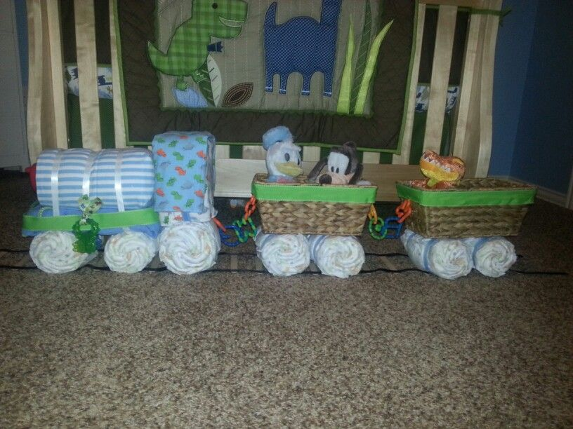 Diaper Train Angel Baby Shower Diaper Train Baby Shower Gifts