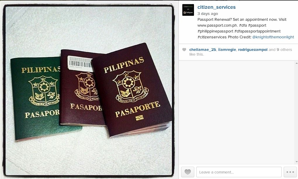Passport Renewal? Set an appointment now. Visit www