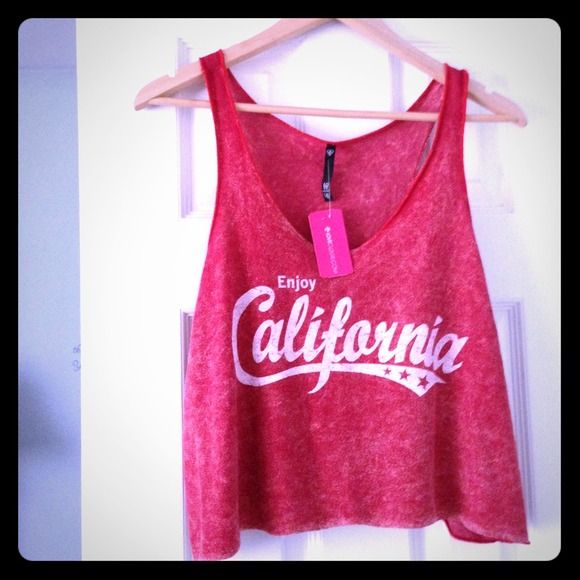 NWT Red Cali Tank Cover Up Perfect for the beach. Never worn and tags are still attached. Tops Tank Tops