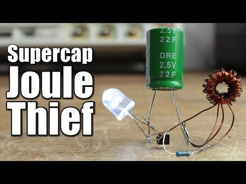 Joule thief - 120 VAC LED bulb at 1.5 volts using toroid - YouTube ...