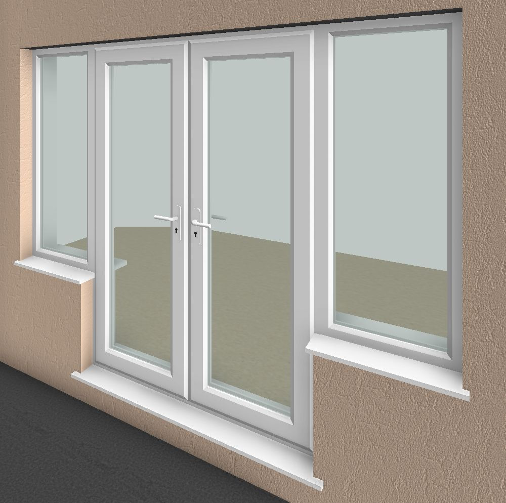 French Doors With Windows On Sides Side V1 1