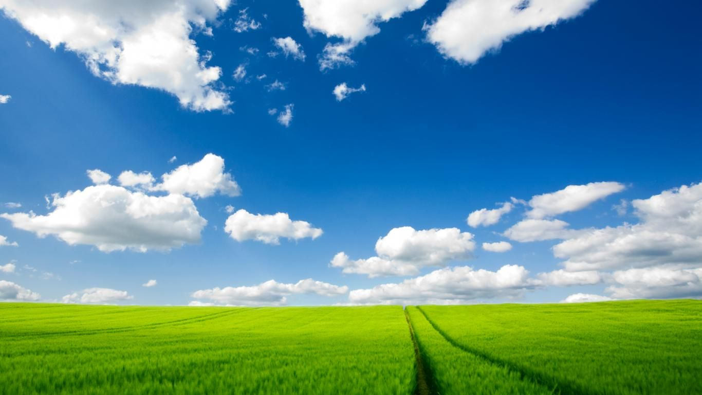 Grass Nature Sky Clouds Field Background Images Free Scenery Wallpaper Nature Wallpaper Landscape