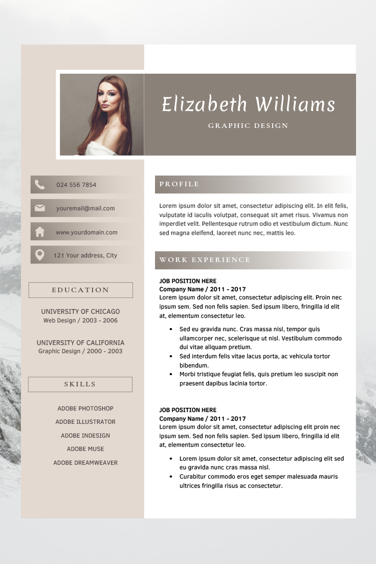 Resume Template For Word And Pages Cv Template Professional Design Template Creative Cv Template Resume Templates Instant Download Lebenslauf Vorlagen Word Kreativer Lebenslauf Vorlagen Lebenslauf