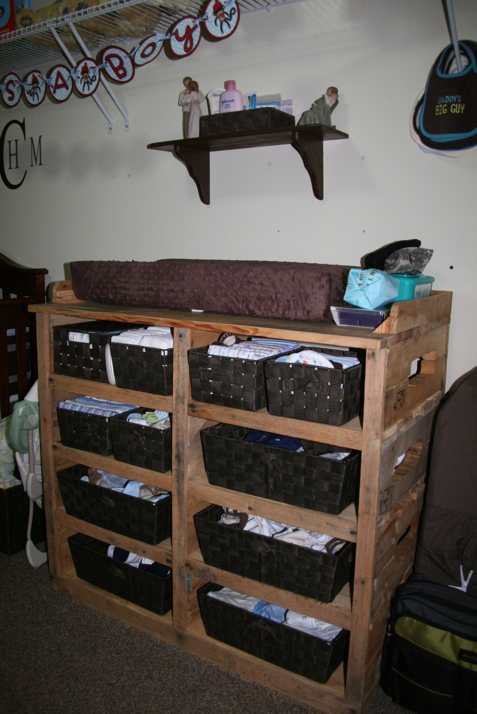 My Husband And Dad Made This For Our Baby Pallet Changing Table