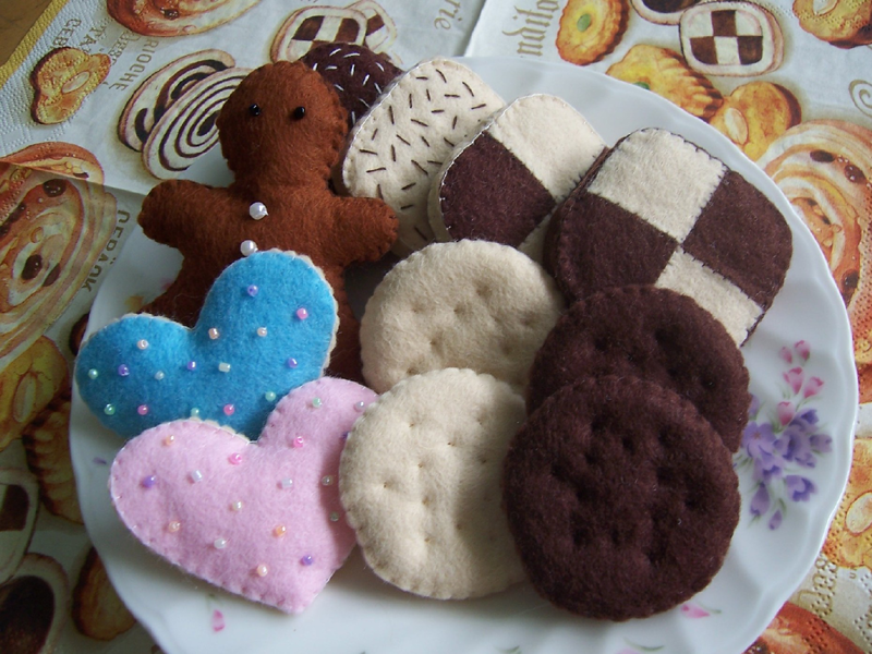 food *cookies* no.02 PDF pattern Felt food, Felt play