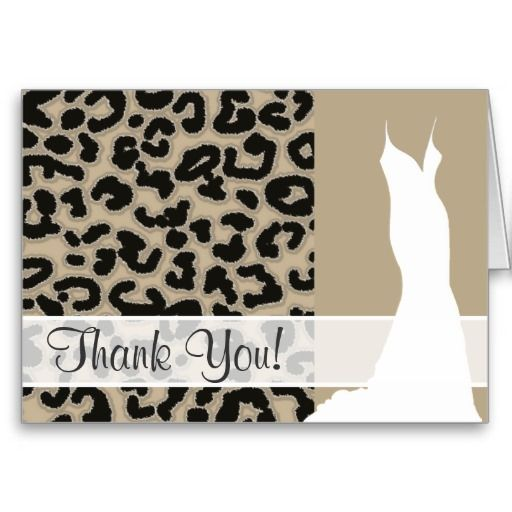 Khaki, Tan, Leopard Animal Print Greeting Cards
