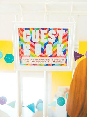 Rainbow Geometric Baby Shower Invitations The Goodness11