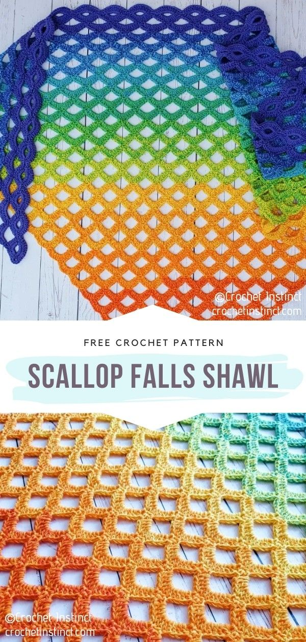 How to Crochet Scallop Falls Shawl