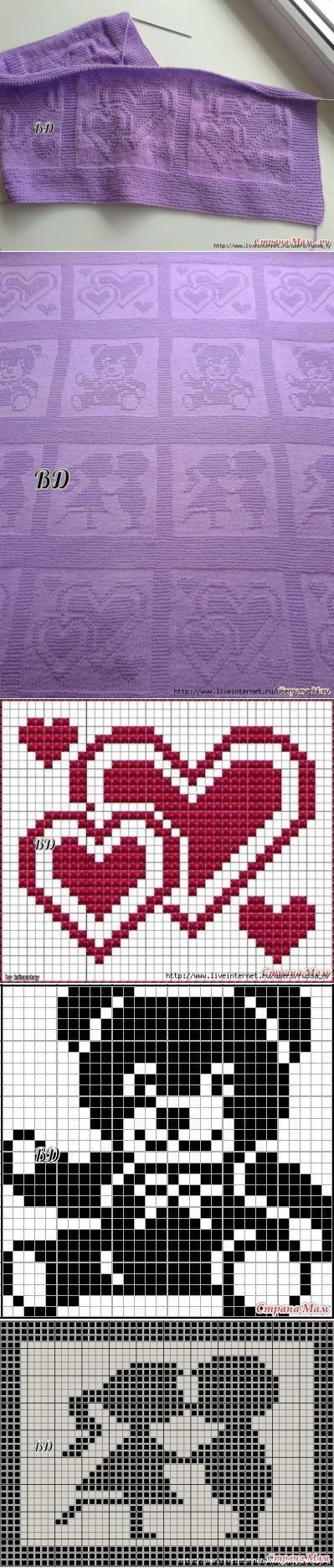 Heart, couple, Teddy Bear C2C