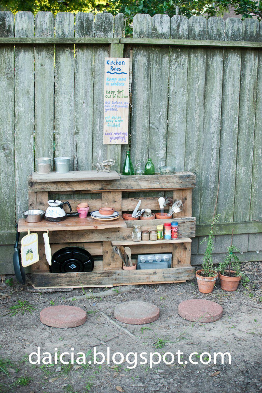 mudpie kitchen | Mudpie Kitchen Update--making a pallet cabinet ...