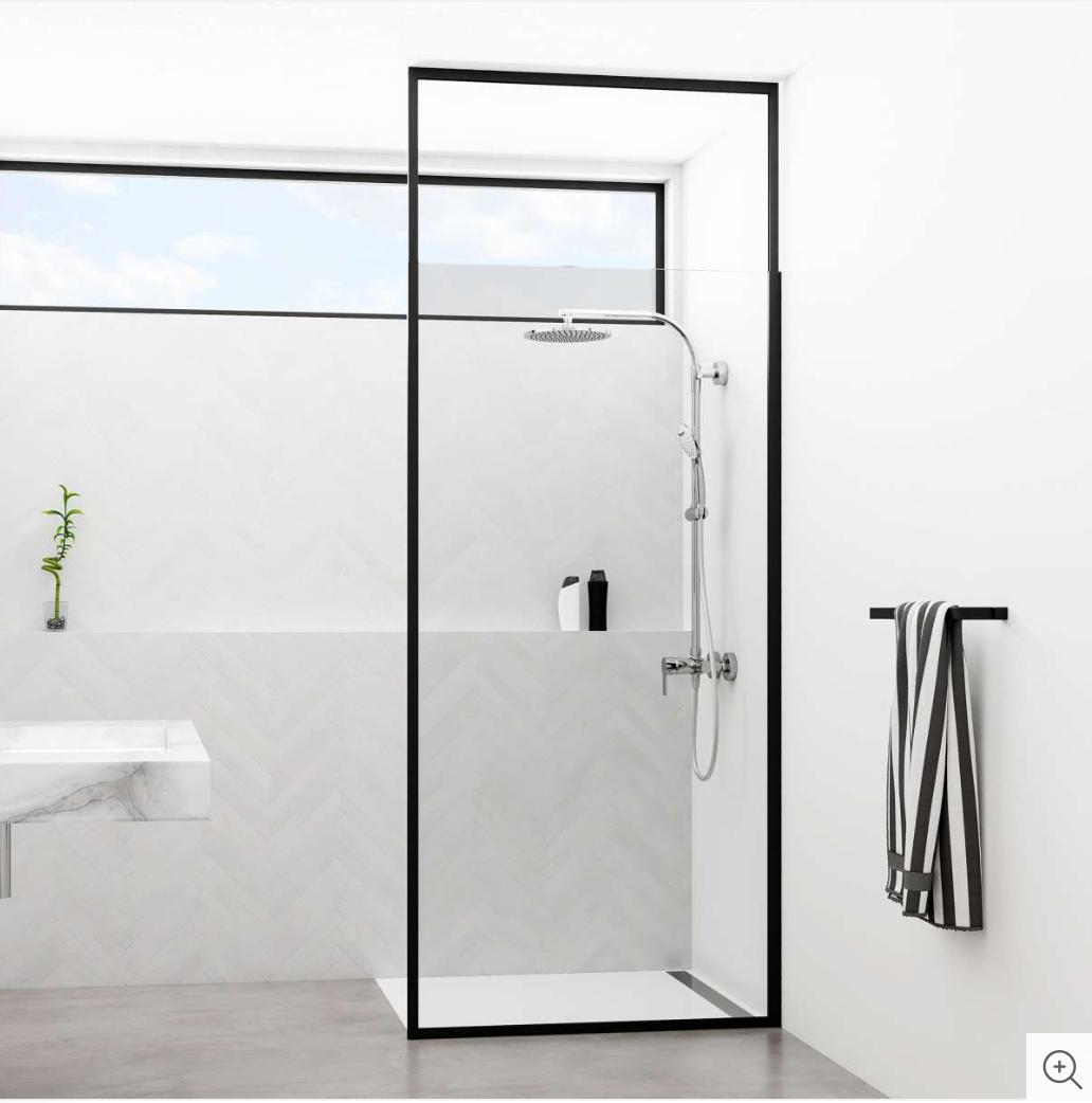 Duschtrennwand Deckenhoch Schwarzer Rahmen In 2020 Dusche