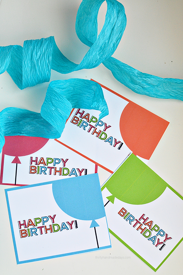 simple printable birthday cardstags from thirtyhandmadedayscom
