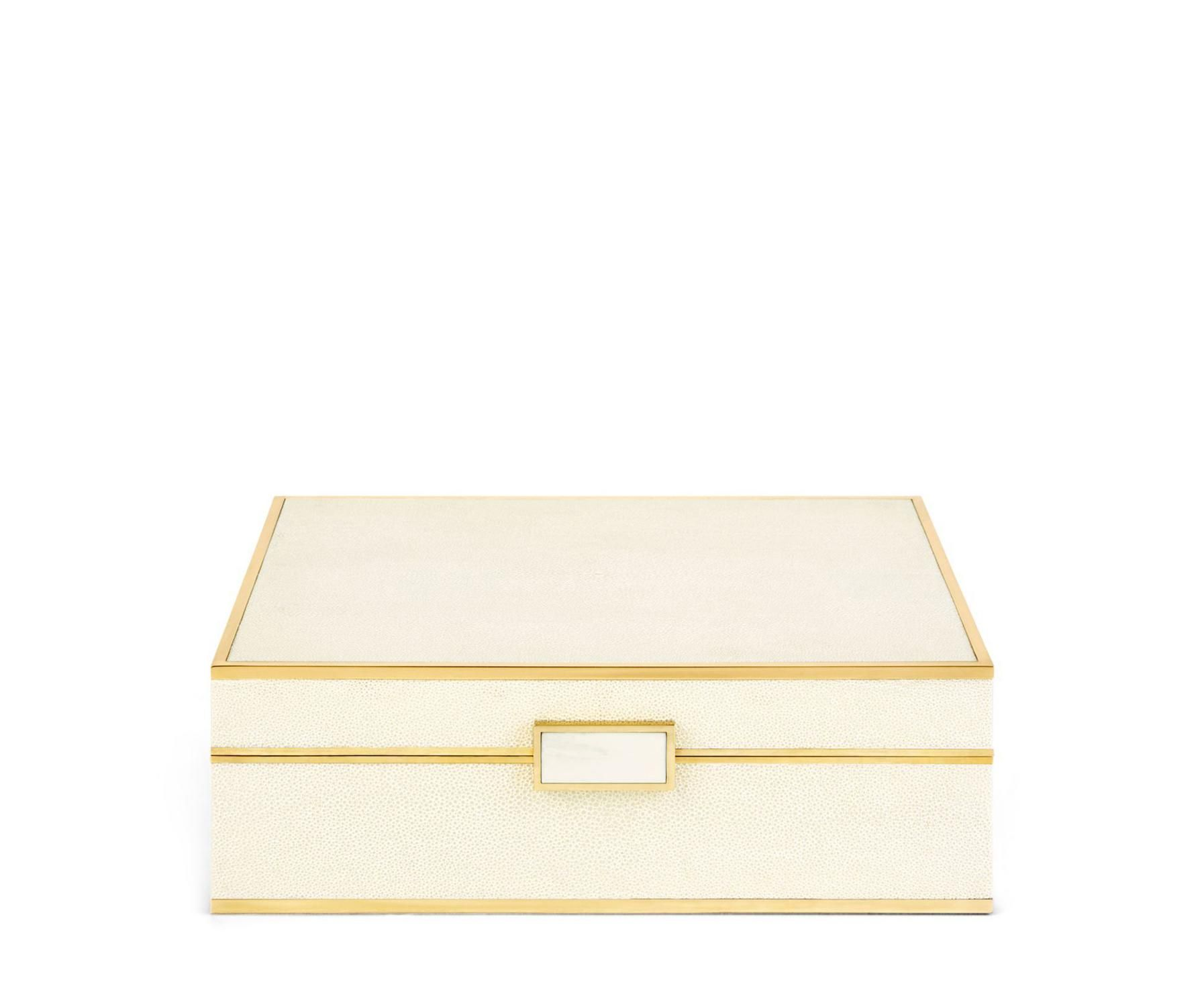 Classic Shagreen Large Jewelry Box Aerin jewelry storage box