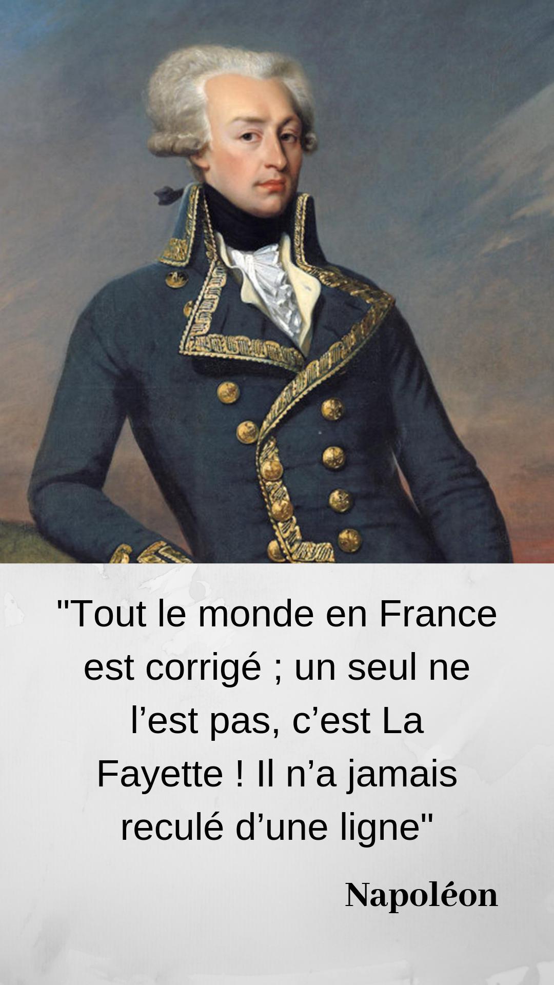 Savez Vous Ce Que Napoleon Avait Offert A La Fayette Pour Obtenir Ses Bonnes Graces Legion D Honneur Personnages Historiques La Fayette