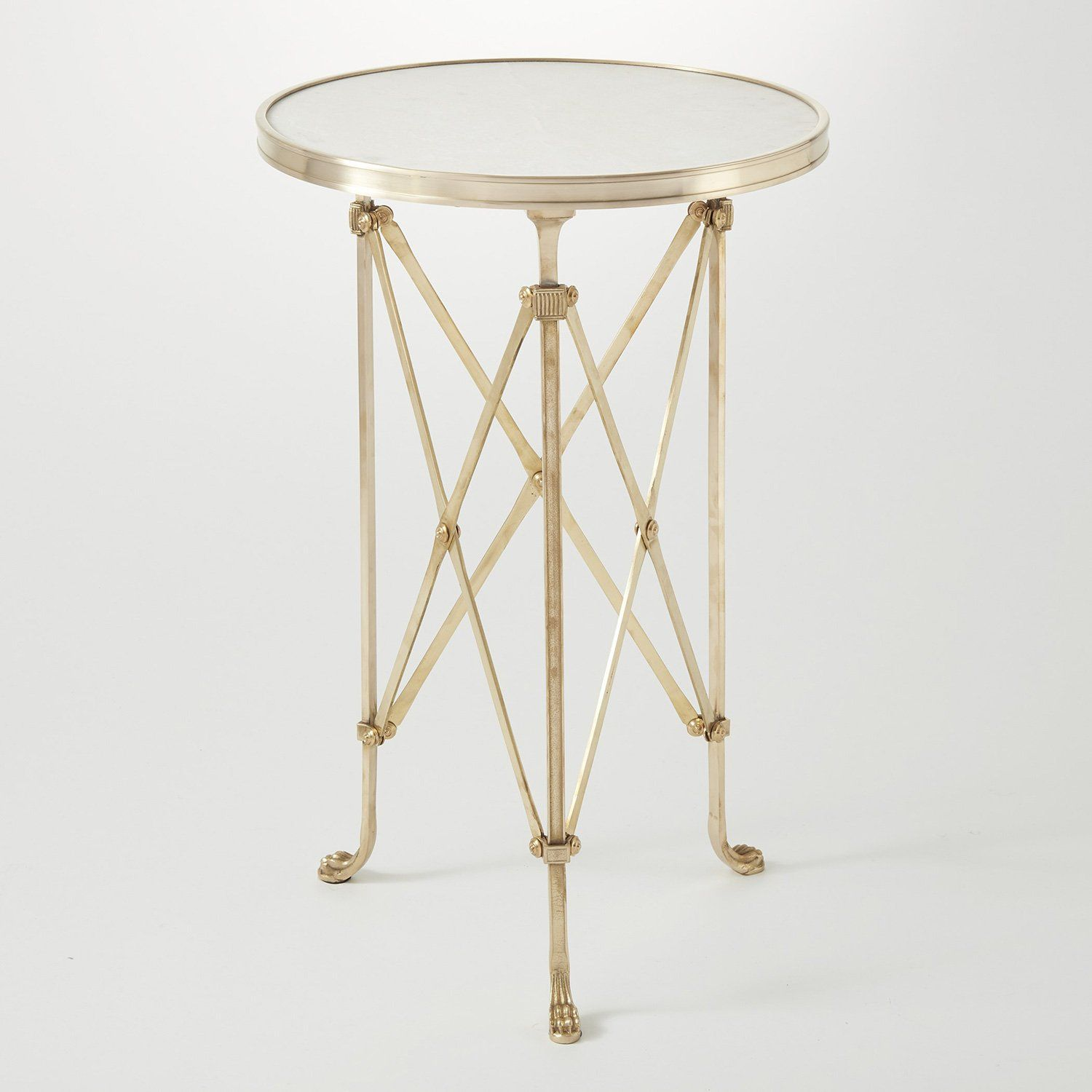 Global Views Directoire Accent Table Granite Table End Tables