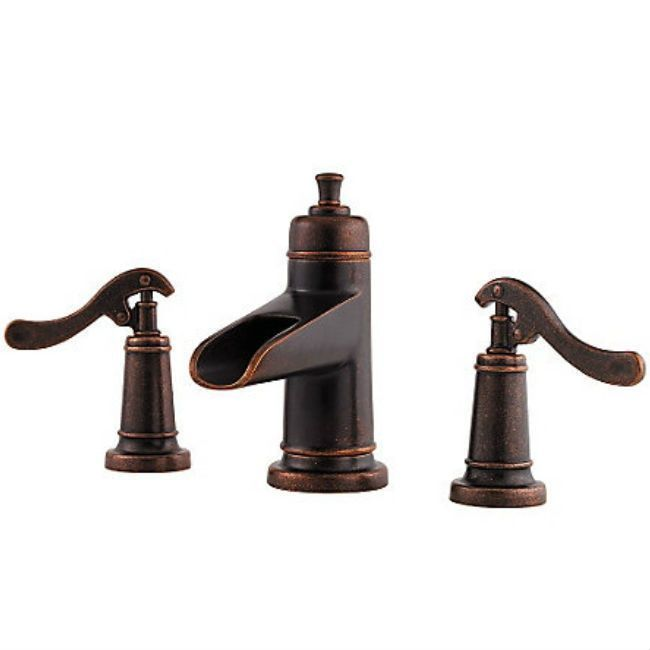 Pfister Ashfield Rustic Bronze Twohandle Widespread Lavatory Magnificent Pfister Bathroom Faucet Decorating Design
