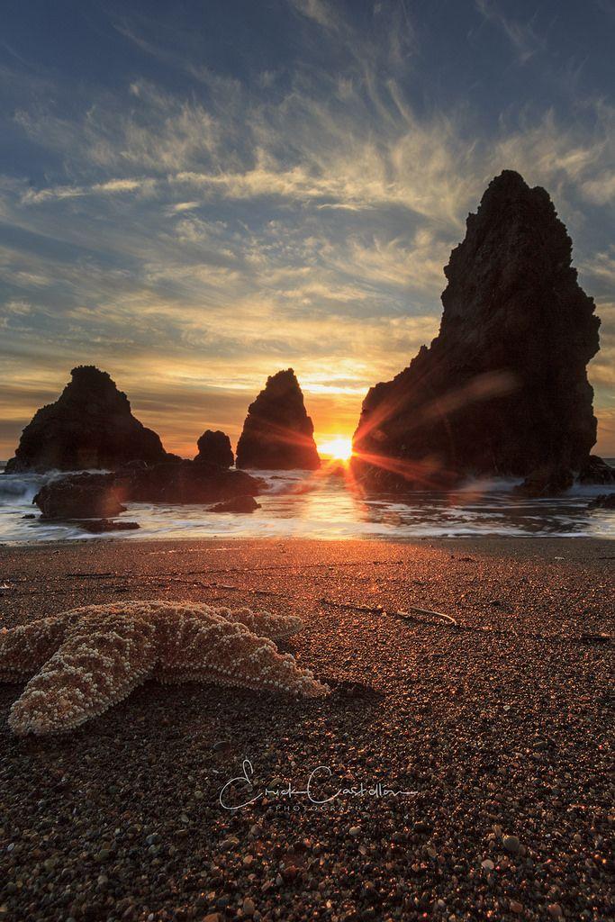Sunset from Rodeo Beach Marin, California