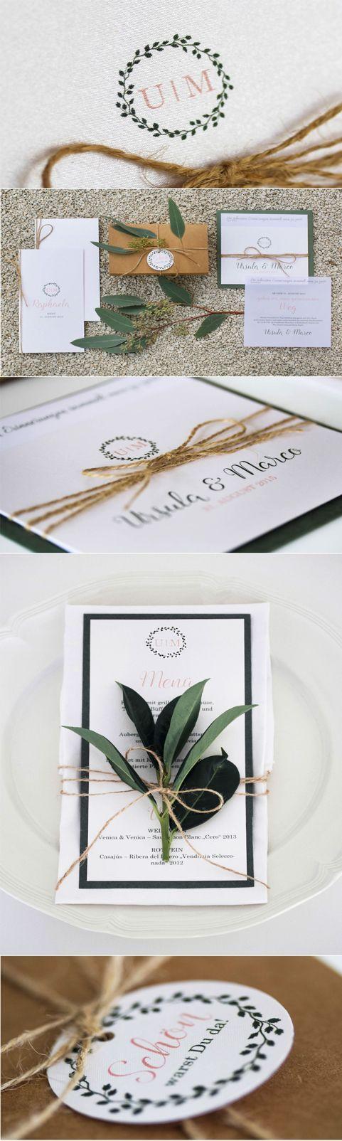 Hochzeitseinladung Natürlich Elegant   Wedding Invitation Natural And  Elegant