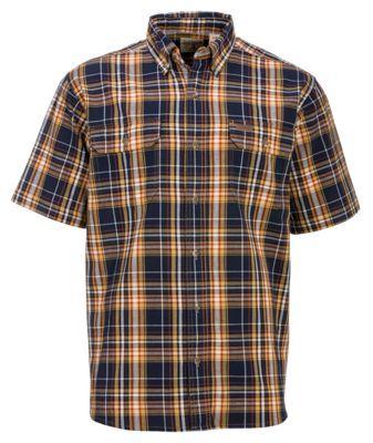 7cb4b27eb25 RedHead Workwear Plaid Shirts for Men - Navy Gold - XL