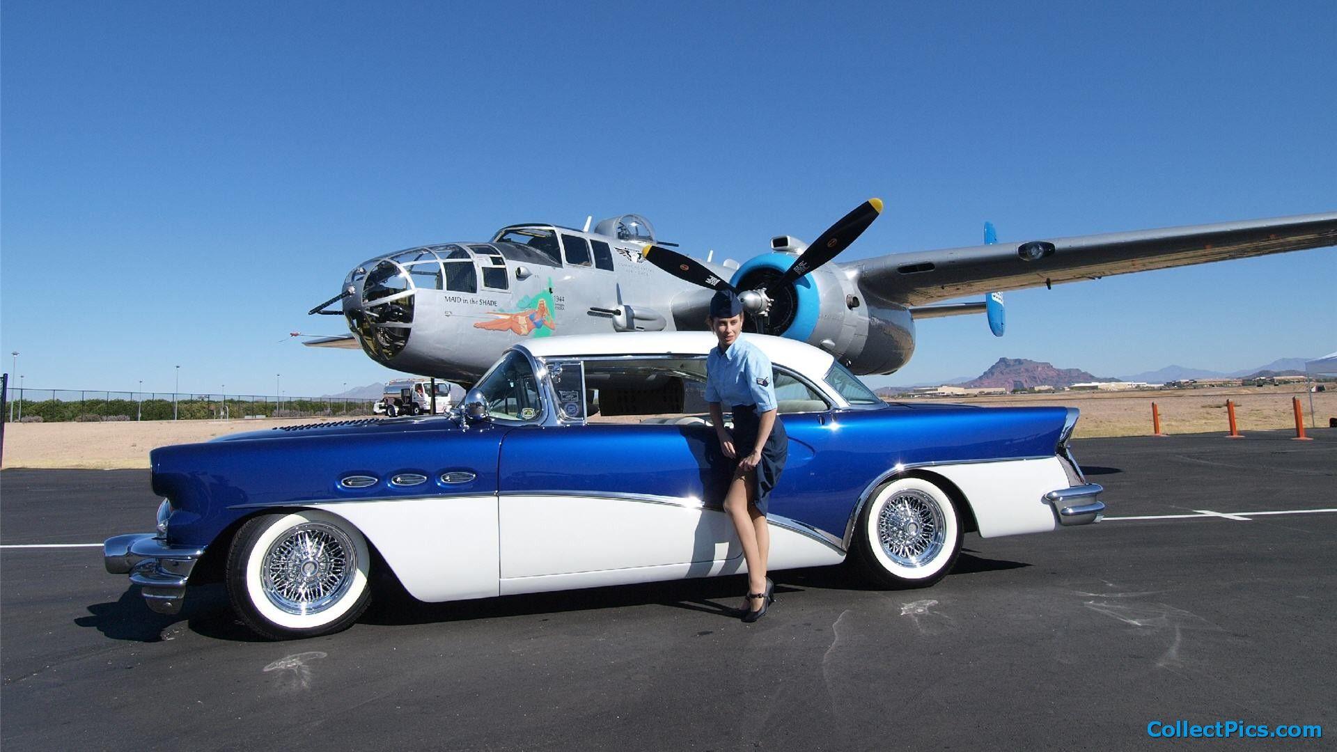 Car Plane Wallpaper Autos Clasicos Autos Motores