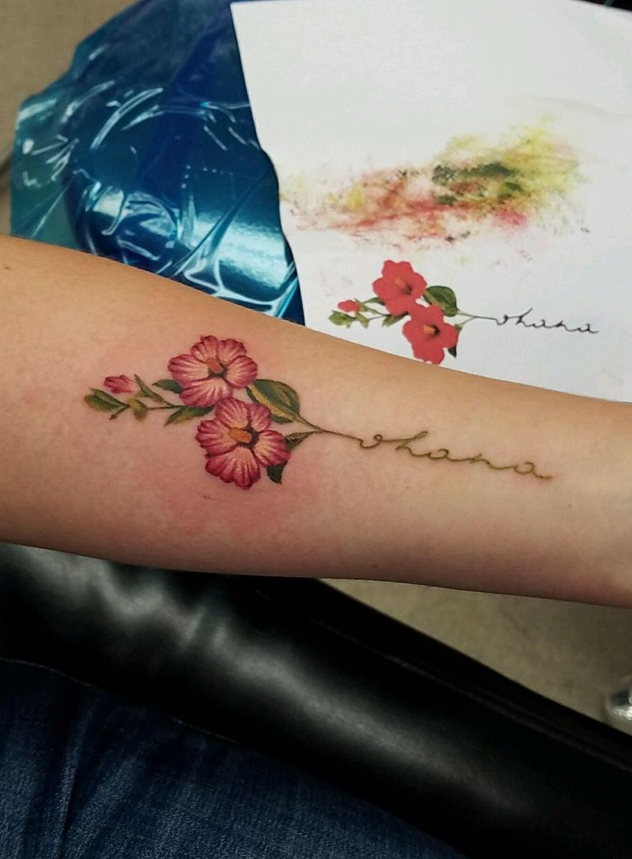 "Small Hibiscus Tattoo: Hibiscus ""ohana"" Tattoo"