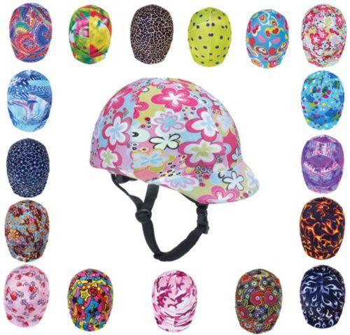 Amazon Com Zocks Helmet Covers Pink Funky Power Sports Related Collectible Mini Helmets Sports Outdoor Helmet Covers Purple Helmet Horse Riding Helmets