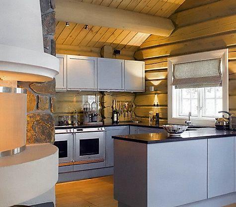 #diseño de #cocinas cocina rústica escandinava con paredes en madera
