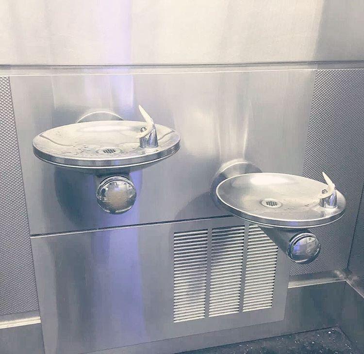 elkay swirlflo drinking fountains in the miami international airport - Elkay Drinking Fountain