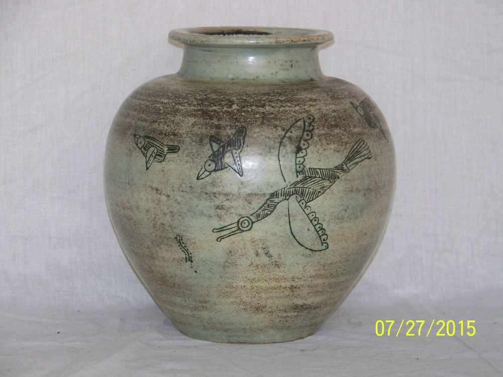 Jacques Blin Listed Master French Ceramist Original Art Pottery Mid Century Vase | eBay