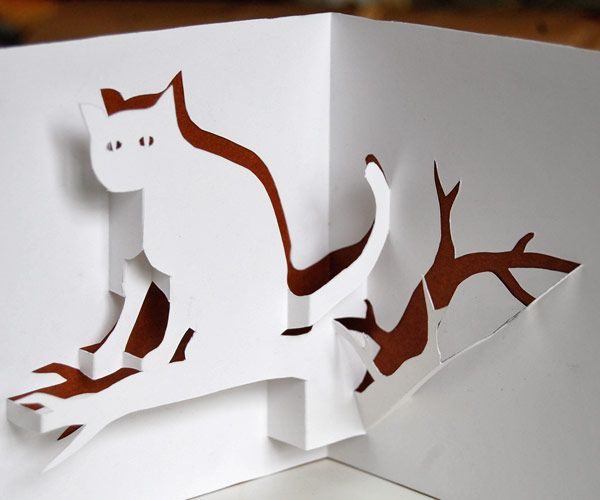 Cat Pop Up Card You Can Download And Make Yourself Pop Up Card Templates Diy Pop Up Cards Paper Toys Diy