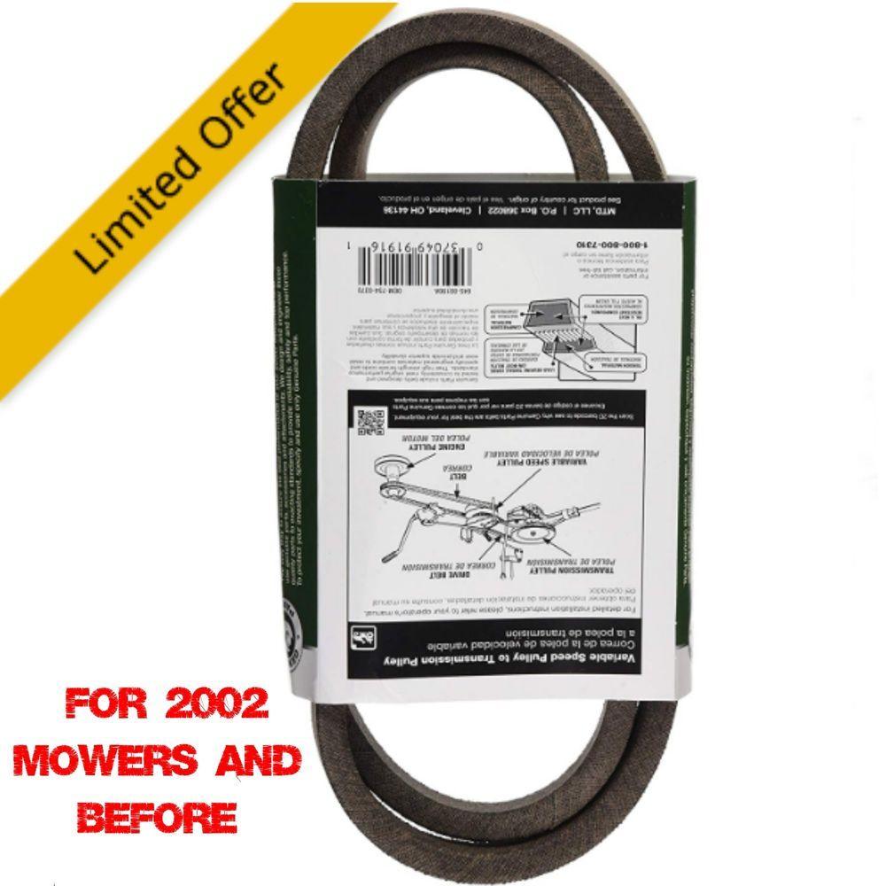36/38/42-Inch Drive Belt For Yard-Man/Huskee/Troy-Bilt