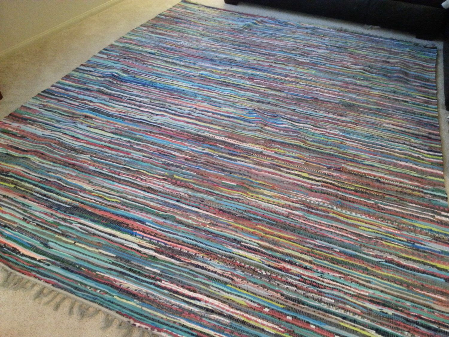 8x10 Rag Rug Chindi Cotton Rugs Scandinavian Large Area Colorful Floor Covering Hand Woven Loom Boho Chic Hippie Free Shipping